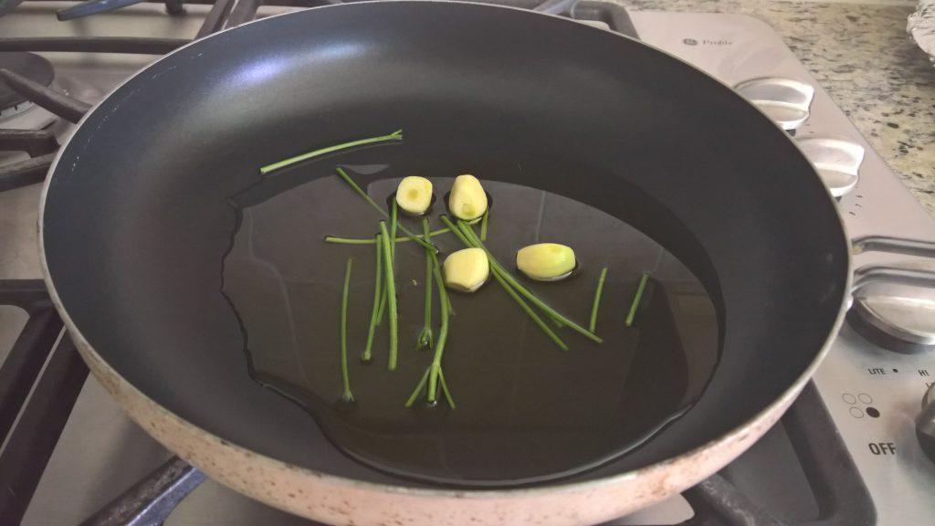 Spaghetti aglio olio cottura