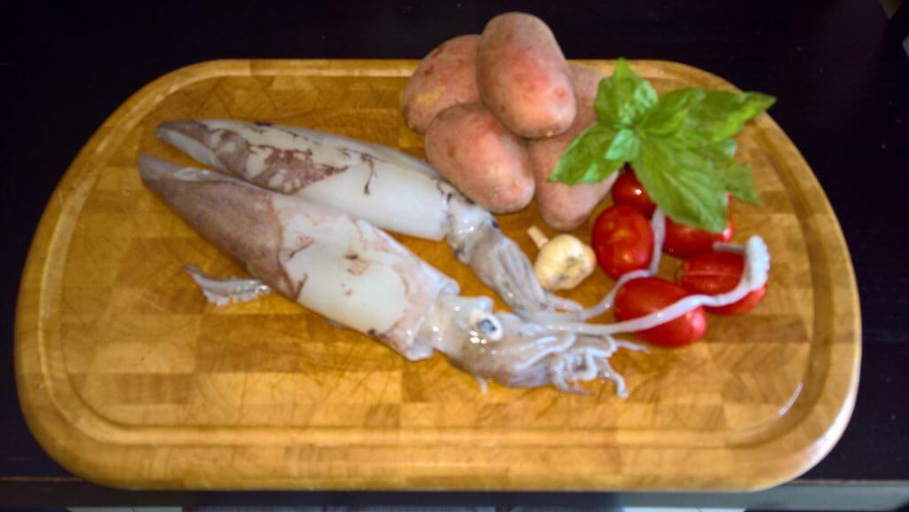 pasta patate e calamari