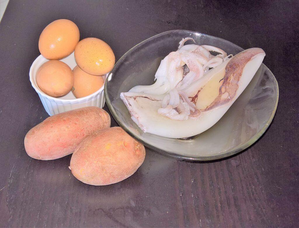frittata di calamari e patate
