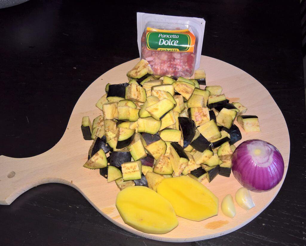 Mezzemaniche melanzane e patate