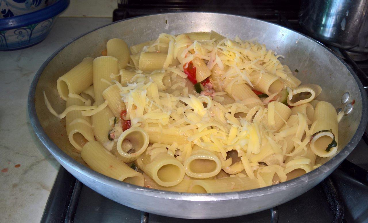 Rigatoni pancetta e zucchine