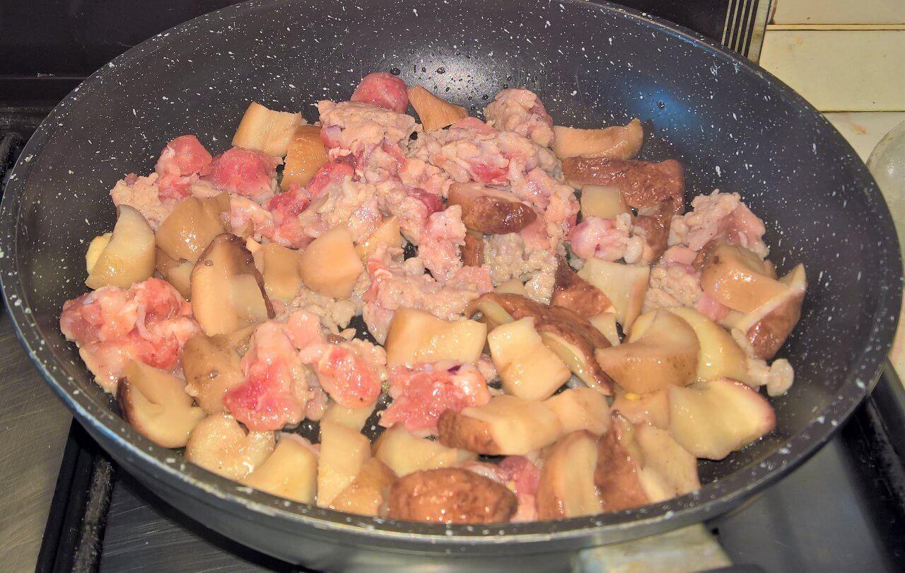 Stufato autunnale zucca e porcini