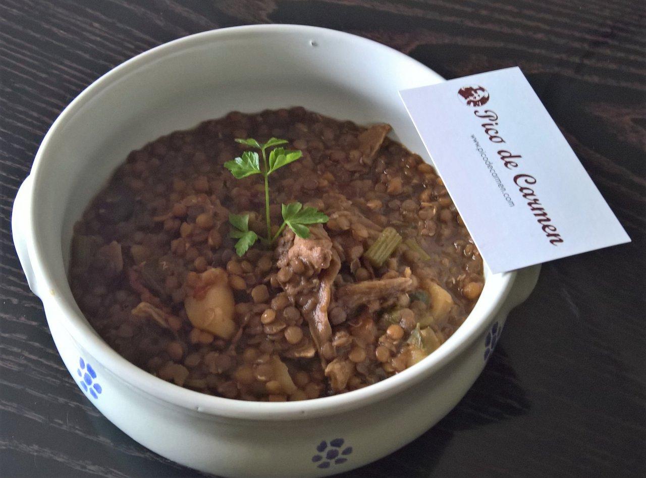 zuppa lenticchie e funghi